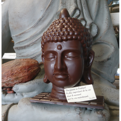 Tête de Bouddha en chocolat