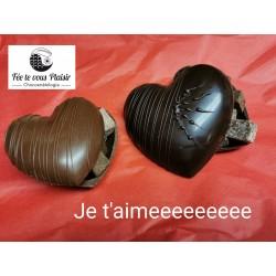 Cœur garni - Chocolat noir